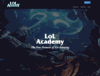 lol-academy.net screenshot