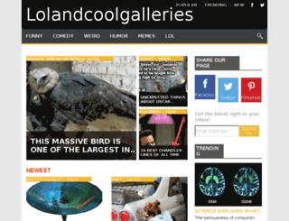 lolandcoolgalleries.com screenshot