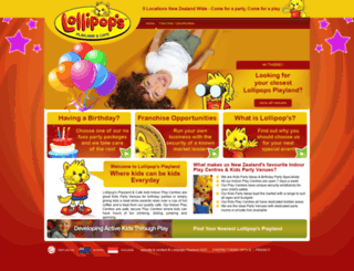 lollipopsplayland.co.nz screenshot