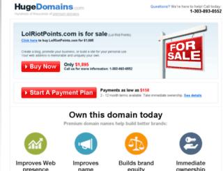 lolriotpoints.com screenshot