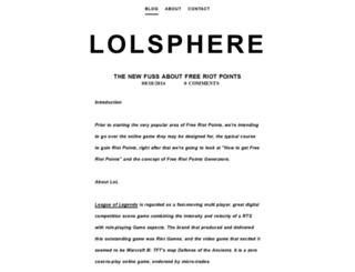 lolsphere.weebly.com screenshot