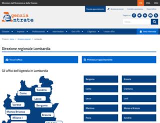 lombardia.agenziaentrate.it screenshot