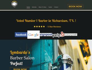 lombardosbarbersalon.com screenshot
