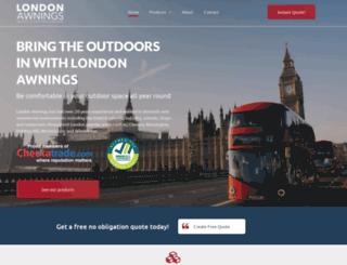 london-awnings.co.uk screenshot