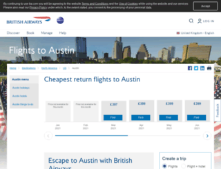 londonaustin.ba.com screenshot