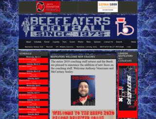 londonbeefeaters.org screenshot