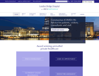 londonbridgehospital.com screenshot