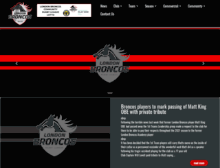 londonbroncosrl.com screenshot