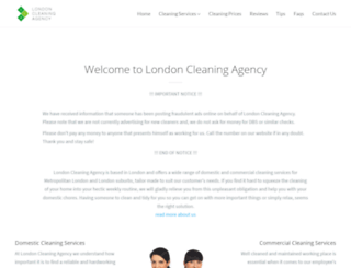 londoncleaningagency.co.uk screenshot
