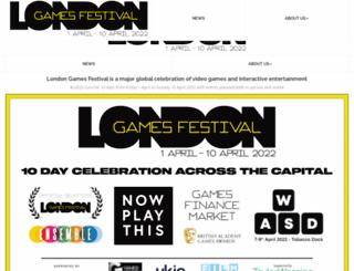 londongamesfestival.com screenshot