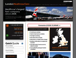 londonheathrowcars.com screenshot