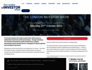 londoninvestorshow.com screenshot
