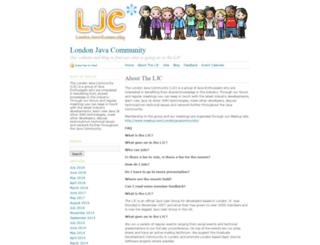 londonjavacommunity.wordpress.com screenshot