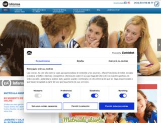 londonlanguagecentre.com screenshot