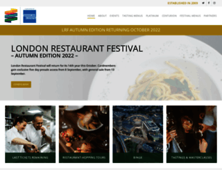 londonrestaurantfestival.com screenshot