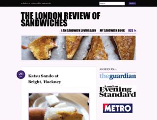 londonreviewofsandwiches.wordpress.com screenshot