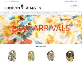 londonscarves.com screenshot