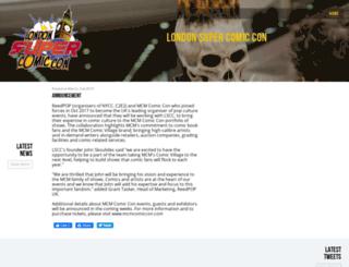 londonsupercomicconvention.com screenshot