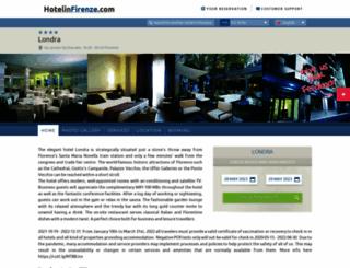 londra.hotelinfirenze.com screenshot