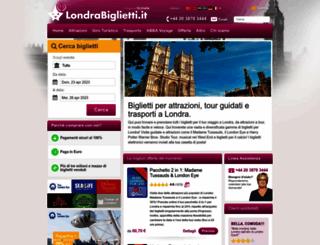 londrabiglietti.it screenshot