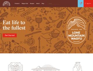 lone-mountain-wagyu.myshopify.com screenshot