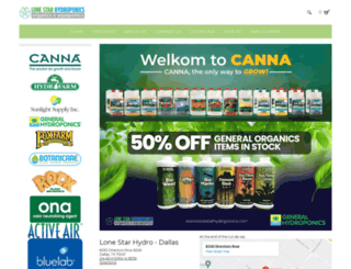 lonestarhydroponics.com screenshot