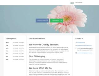 lonestarproservices.simplybook.me screenshot