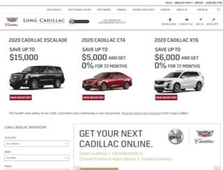 longcadillac.com screenshot