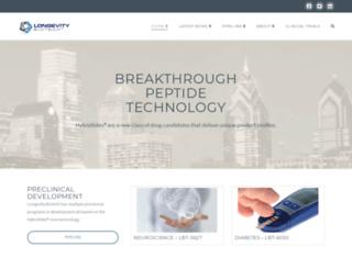 longevitybiotech.com screenshot