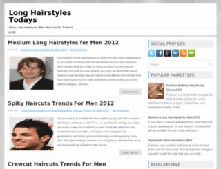 longhairstylesfortodays.blogspot.com screenshot