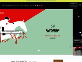 longinesmasters.com screenshot