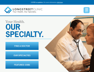 longstreetclinic.com screenshot