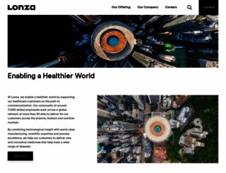 lonza.com screenshot