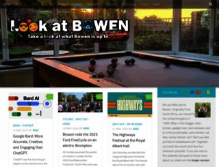 lookatbowen.com screenshot