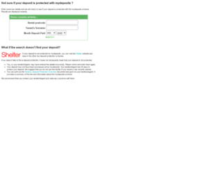 lookup.mydeposits.co.uk screenshot