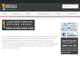 lookwhosdriving.com.au screenshot
