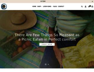 loomhometextiles.com screenshot