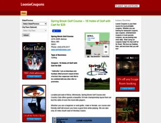 looniecoupons.ca screenshot