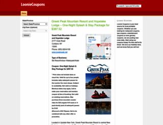 looniecoupons.com screenshot