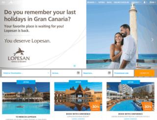 lopesanhotels.com screenshot