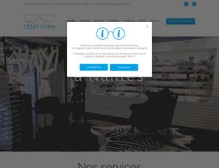 lopticien-nantes.com screenshot
