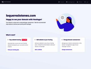 loquereslotenes.com screenshot