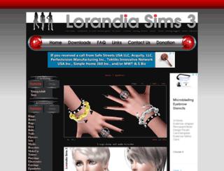 lorandiasims3.com screenshot
