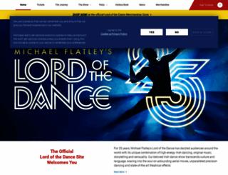 lordofthedance.com screenshot
