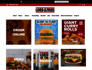 lordofthefries.com.au screenshot