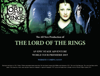 lordoftherings.com screenshot