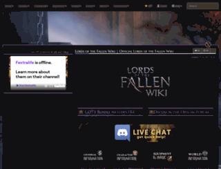lordsofthefallen.wiki.fextralife.com screenshot