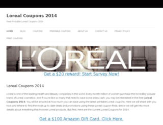 lorealcoupons2013.com screenshot