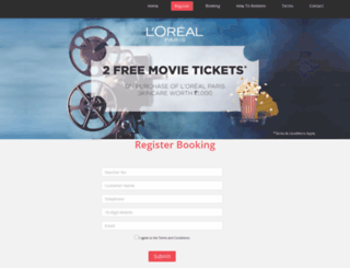 lorealparis.cinerewardz.com screenshot