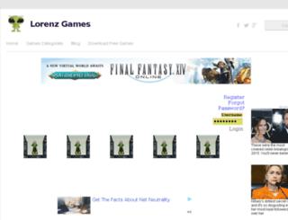 lorenzgames.com screenshot